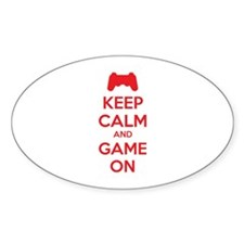 Keep calm and game on Decal