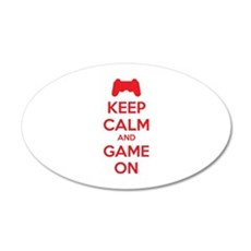 Keep calm and game on 22x14 Oval Wall Peel