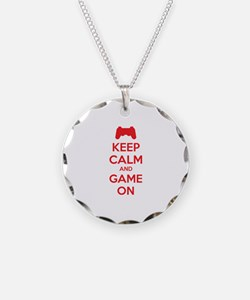 Keep calm and game on Necklace