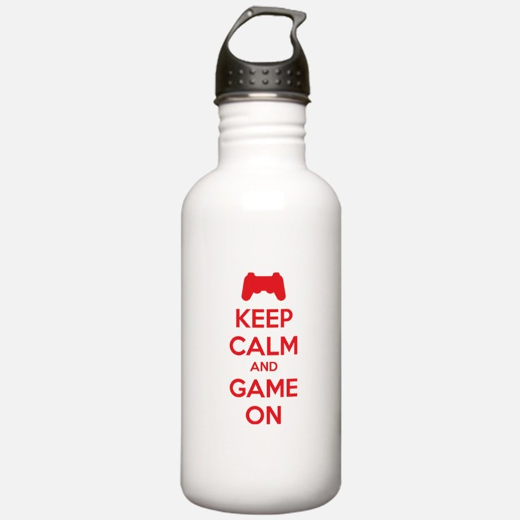 Keep calm and game on Water Bottle