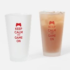 Keep calm and game on Drinking Glass