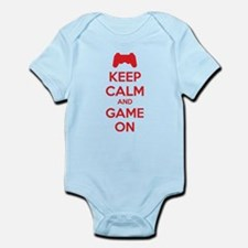 Keep calm and game on Infant Bodysuit