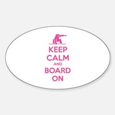 Keep calm and board on Decal