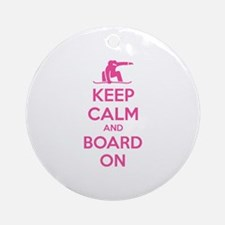 Keep calm and board on Ornament (Round)