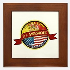 Sicilian American 2 x Awesome Framed Tile