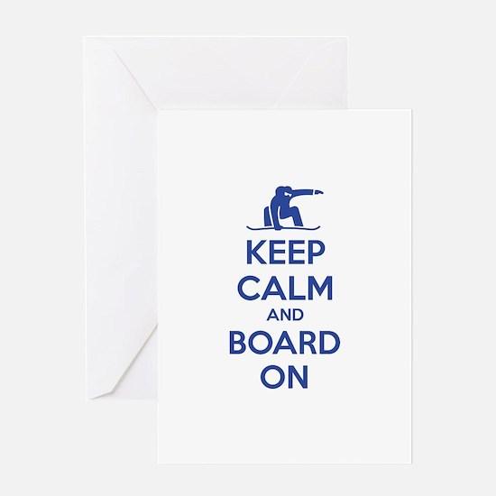 Keep calm and board on Greeting Card