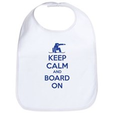 Keep calm and board on Bib