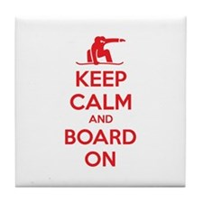Keep calm and board on Tile Coaster