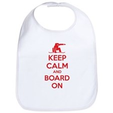 Keep calm and board on Bib