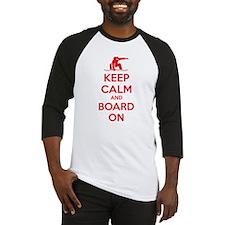 Keep calm and board on Baseball Jersey
