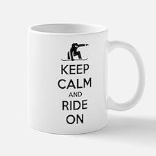 Keep calm and ride on Small Small Mug