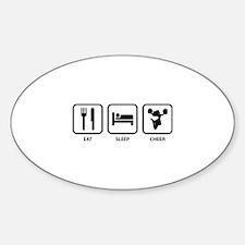 Eat Sleep Cheer Sticker (Oval)