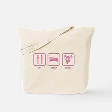 Eat Sleep Cheer Tote Bag