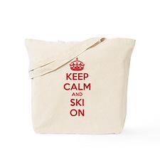 Keep calm and ski on Tote Bag