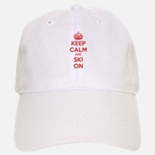 Keep calm and ski on Baseball Baseball Cap