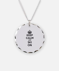 Keep calm and ski on Necklace