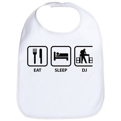Eat Sleep DJ Bib