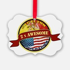 Sicilian American 2 x Awesome Ornament