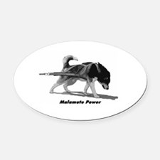 Malamute Power Oval Car Magnet