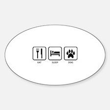 Eat Sleep Dog Sticker (Oval)