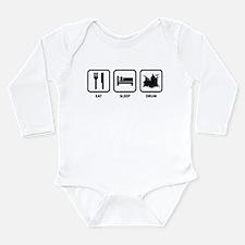 Eat Sleep Drum Long Sleeve Infant Bodysuit
