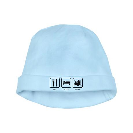 Eat Sleep Drum baby hat
