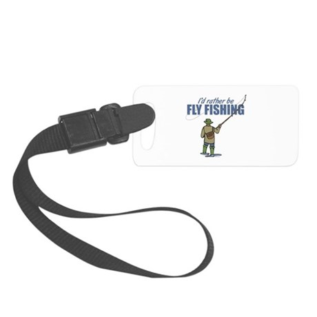 Fly fishing small luggage tag by troutwhiskers for Fly fishing luggage