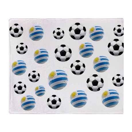 Uruguay Soccer Balls Throw Blanket