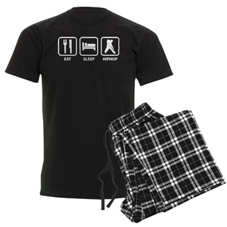 Eat Sleep Hiphop Men's Dark Pajamas