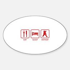 Eat Sleep Hiphop Sticker (Oval)