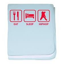 Eat Sleep Hiphop baby blanket