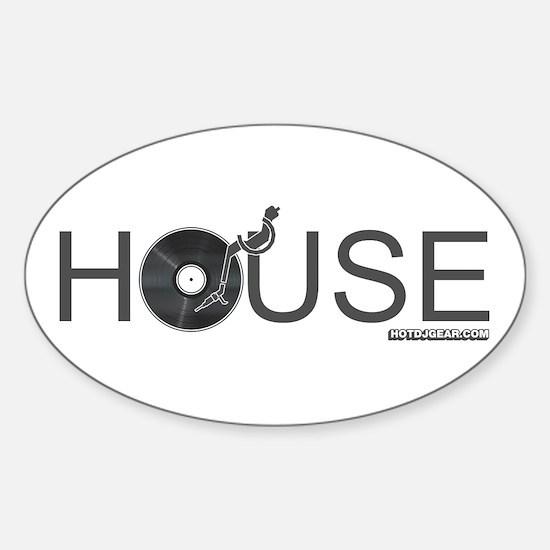 House Vinyl Sticker (Oval)