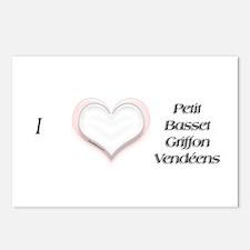 I heart Petit Basset Griffon Vendeens Postcards (