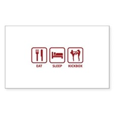 Eat Sleep Kickbox Decal
