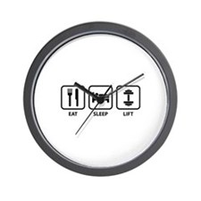 Eat Sleep Lift Wall Clock