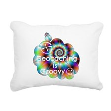 Geocaching is Groovy Rectangular Canvas Pillow