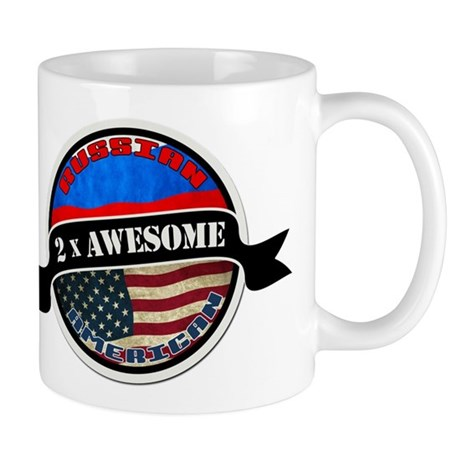 Russian American 2 x Awesome Mug