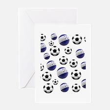 Honduras Soccer Balls Greeting Card