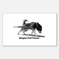 Weight Pull Power Sticker (Rectangle)