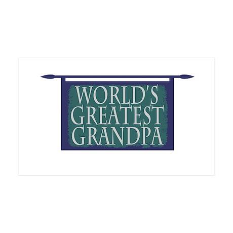 Worlds Greatest Grandpa 35x21 Wall Decal