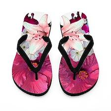 Hibiscus floral Flip Flops