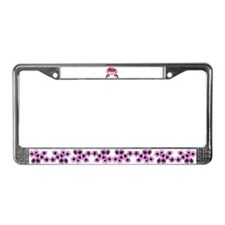 Hibiscus floral License Plate Frame