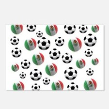 Mexican soccer balls Postcards (Package of 8)