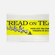 Tread on the Tea Party Rectangle Magnet