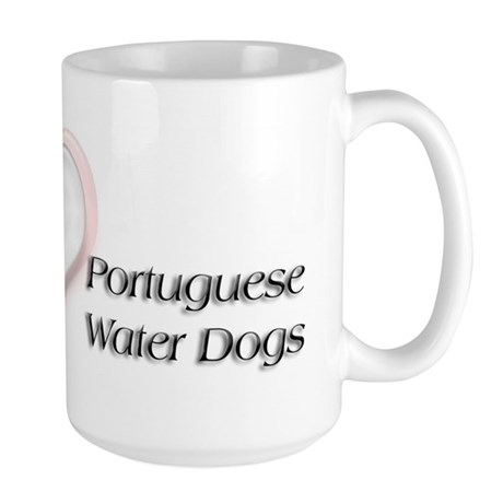 I heart Portugese Water Dogs Large Mug