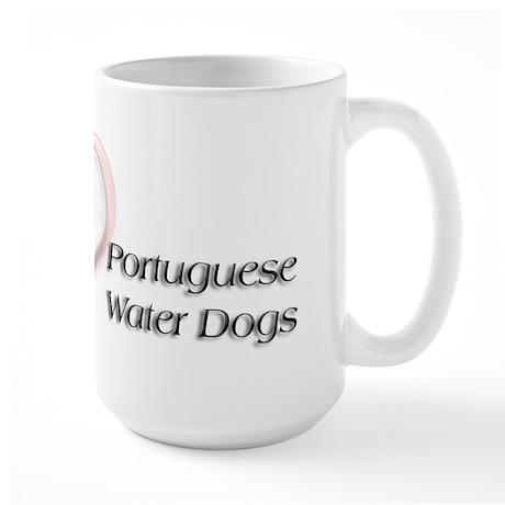 I heart Portugese Water Dogs Large Mug