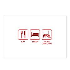 Eat Sleep Pole Dancing Postcards (Package of 8)