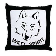 wolf wild spirit pack Throw Pillow