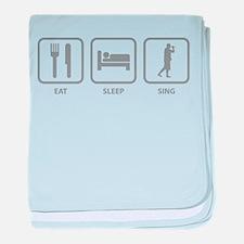 Eat Sleep Sing baby blanket