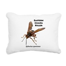 Cicada Killer Rectangular Canvas Pillow